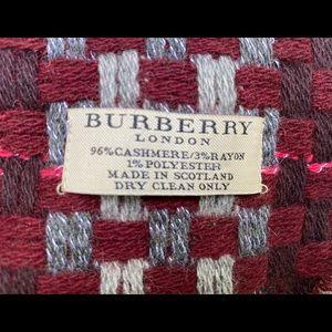 """Burberry 72"""" Cashmere scarf"""